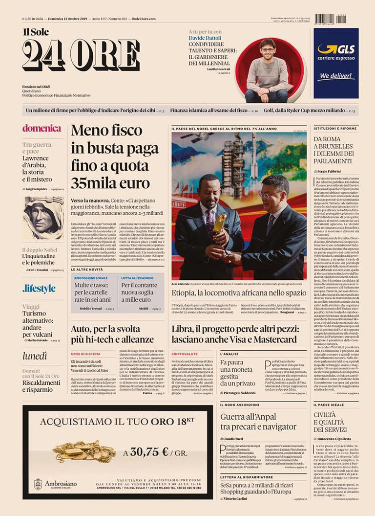 Simone Bonanni Il Sole 24 Ore October 2019